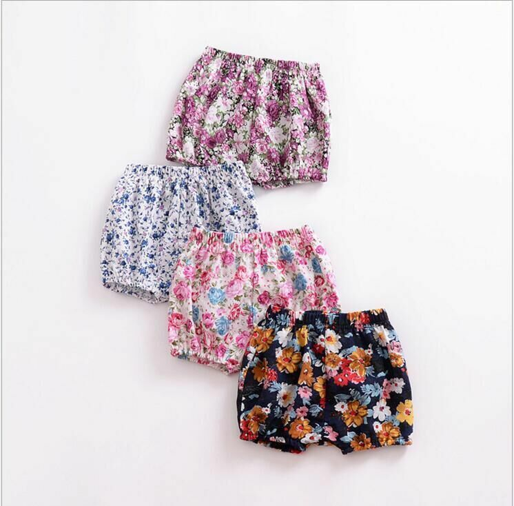 Autumn Summer Baby Girl Lovely Floral Printed Shorts Babies Flower PP Pants Kid Bloomers Fashion Short Clothing Children Kids