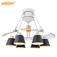 E27 Mute Ceiling Fan Lamp 48 inch ABS Invisible fan leaf Modern Fashion Creative lights Living room Bedroom Decoration lamps