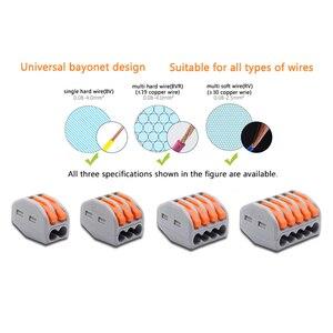 Image 5 - Złącze przewodu szybkie zacisk blok przejściówka Adapter szary/przezroczysty kolor 32A RF, oświetlenie 30/50/100 sztuk Mini uniwersalny
