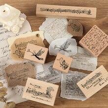 Journamm Sheet Music Jazz Wood Rubber Seals and Stamps  Journaling Diy Deco for Scrapbooking Craft Stamp Bullet Journal Supplies