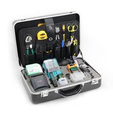 Komshine KFS 40D kit de ferramentas de fibra óptica ftth com medidor de energia, cutelo, stripper de fibra óptica, stripper de cabo, tesoura kevlar