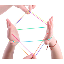 Cradle String Finger Game rainbow Finger Rope Coloured Thread Toy Rope Finger String Puzzle Create Toy