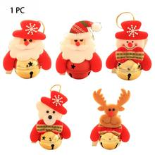 Christmas Ornaments Christmas Gift Santa Claus Snowman Tree Toy Doll Hang Decorations for home Bell Ornament DIY Craft Party