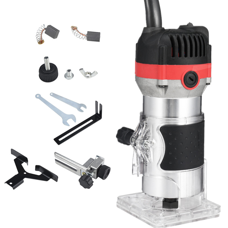 1200W 35000rpm Woodworking Electric Trimmer Wood Milling Engraving Slotting Trimming Machine Hand Carving Machine Wood Router
