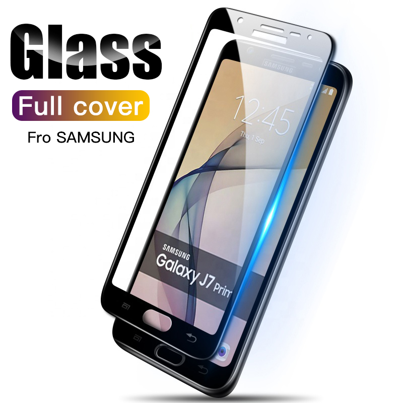 3D Protective <font><b>Glass</b></font> On For <font><b>Samsung</b></font> <font><b>Galaxy</b></font> A3 A5 A7 2017 A6 A8 Plus A9 J5 J7 <font><b>J4</b></font> J6 J8 <font><b>2018</b></font> Tempered <font><b>Glass</b></font> Screen Protector Film image