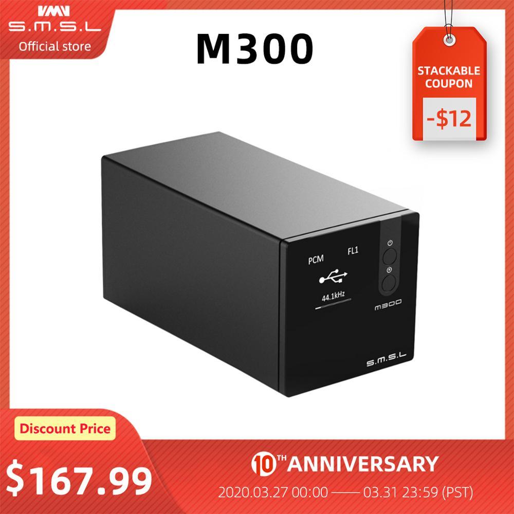 SMSL M300 Audio DAC AK4497 Hifi Decoder Native DSD512 PCM768kHz USB Optical Coaxial Input Balanced Line Output Black Blue Red