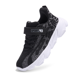 Image 3 - Breathable Soft Kids Sneakers Autumn Winter New Flying Weaving Boys Shoes Light Non slip Children Shoes Size 28 39