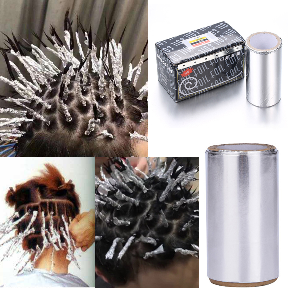1Pc Perm Aluminum Foil Paper Perm Separating Stain Hairdressing Supplies Hair Coloring Hair Salon Professional Perm Styling Tool