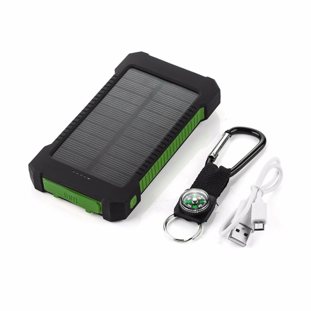 20000mAh Top Solar Power Bank Waterproof Emergency Charger External Battery Powerbank For Xiaomi MI iPhone Samsung LED SOS Light 1