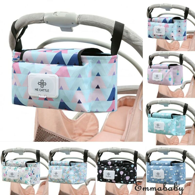 Multifunction Baby Infant Large Organizer Bag Pushchair Storage Cup Bag 7N