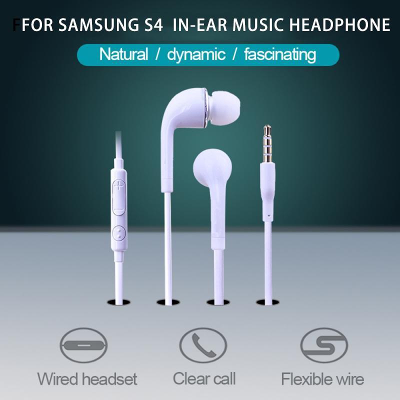 For Samsung S4 Earphone 3.5mm In-ear Earphones Bass Sport Headset Stereo Earphone For Xiaomi Iphone Samsung PK S8 S7 S6