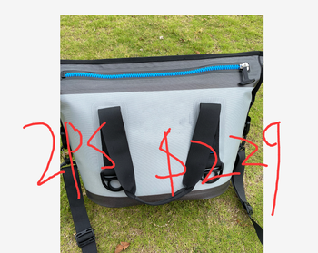 New big zipper Two pieces 8CANS is $169.99  Outdoor Waterproof Soft Sided Portable Cooler for Picnic