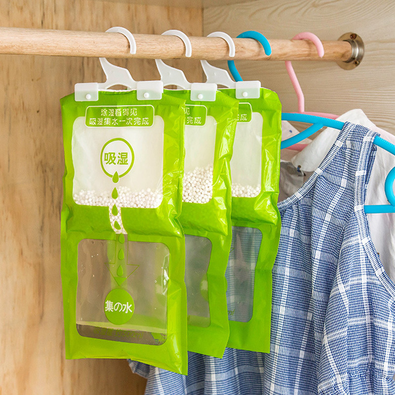 Household Drying Dehumidifier Wardrobe Absorbent Bag Family Use Hanging Drying Agent Dehumidifier Bags  Room Accessories