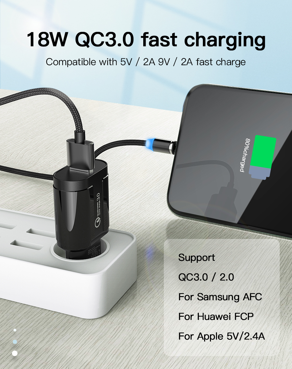 !ACCEZZ QC3.0 USB Charger Quick Charge For iphone XS X Fast Charging For Samsung Huawei Xiaomi EU Plug Travel Wall Power Adapter (7)