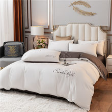 2021Luxury Bedding Set Comfort Cotton Embroidery A/B Brushed Fabric Super Soft Pure Linens For Four Seasons Home Textile 3/4Pcs