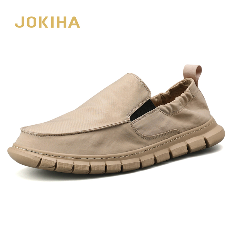 All Season Fashion Loafers Shoes Men Summer Mens Light Loafers Khaki Outdoor Casual Shoes For Men High Quality Shoes Man MaleMens Casual Shoes   -