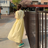 Vinatge Women Long Dress Summer 2021 Casual Puff Sleeve Oversize Dress Women Elegant Korean Female Dress Loose Vestidos New 9941 6