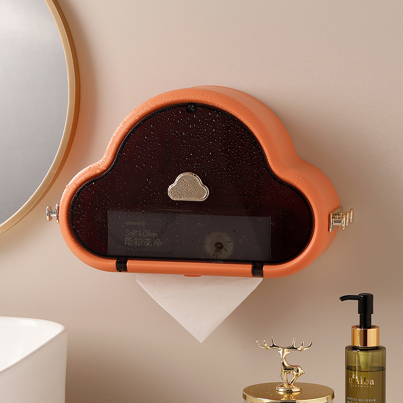 Nordic Toilet Paper Holders Cloud Washcloth Shelf Skin Care Products Storage Box Wall Mounted No Punching Bathroom Accessories