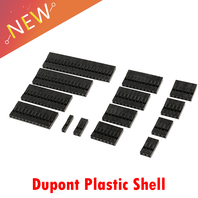 20PCS Connector Shell 1Pin 2Pin 3Pin 4Pin 5Pin 6Pin 7Pin 8Pin 9Pin 10Pin 12Pin 13Pin Single Row 2.54 Mm Through Hole Housing