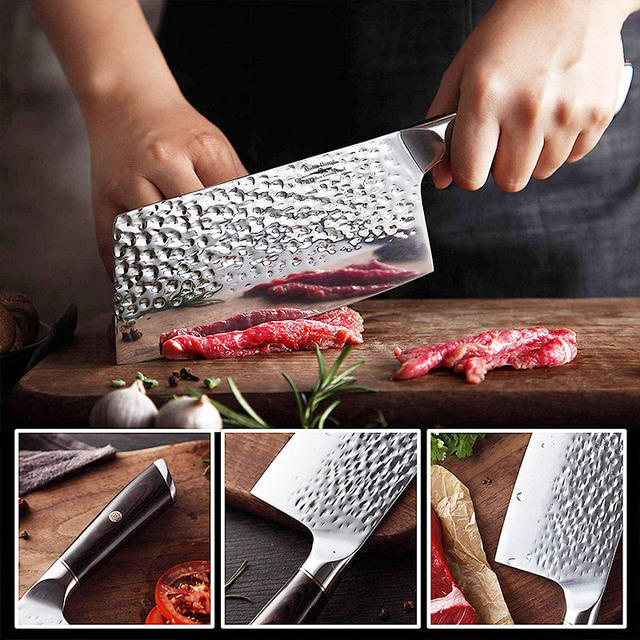 7 Inch Cleaver And 8 Inch Chef Knife Stainless Steel 2