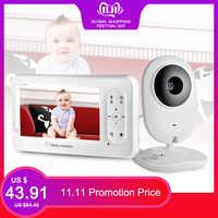 Moniteur vidéo bébé 4.3 pouces sans fil avec caméra bidirectionnelle Talkback nounou caméra Babysitter Vision nocturne détection de température