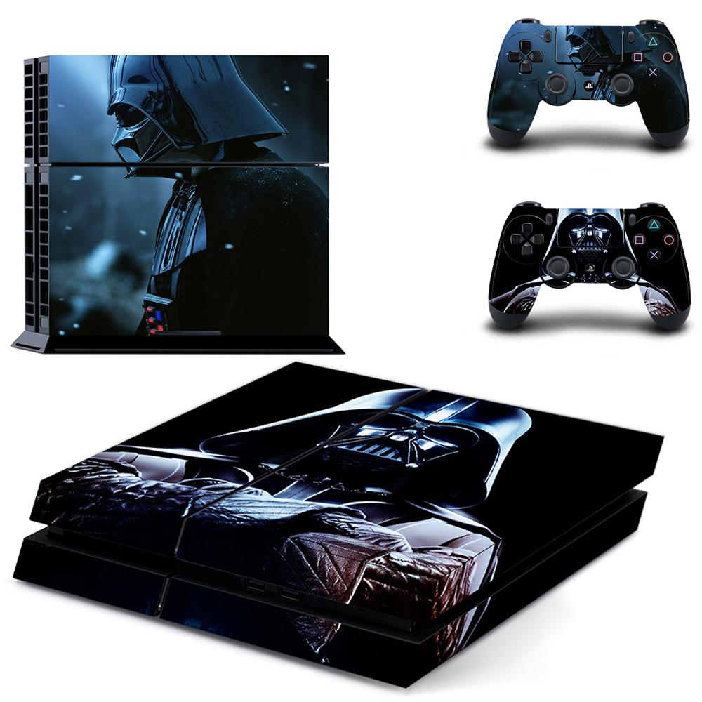 Star Wars Full Cover Faceplates PS4 Skin Sticker Decal For PlayStation 4 Console Controllers PS4 Skin Sticker Vinyl Spider man in Stickers from Consumer Electronics