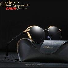 Óculos de sol polarizados femininos de luxo moda cat eye senhoras designer marca do vintage feminino óculos de sol gafas m219 + caso