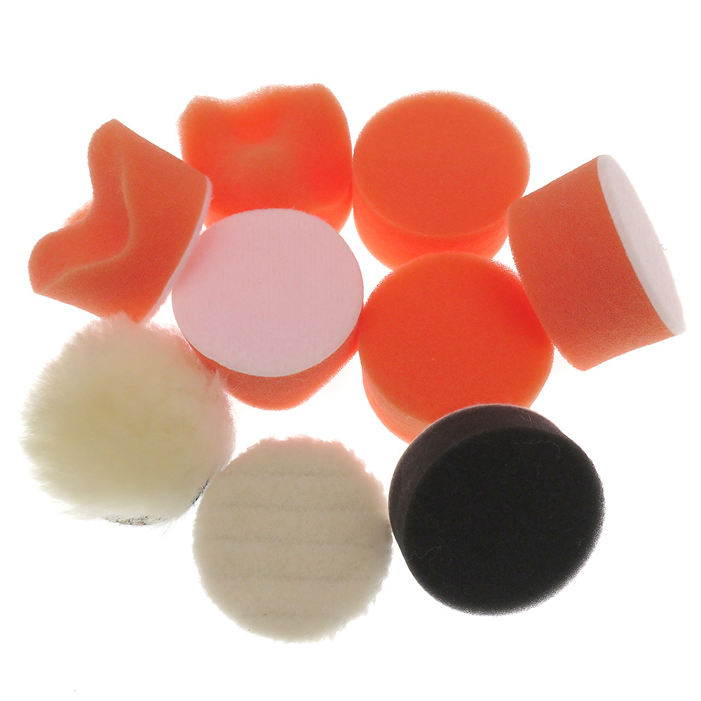 9Pcs/Set Polishing Sponge Round Sponge Polishing Pad For Polisher Sponge Wax Shaped Sponge Foam Cotton 2 Inch    Car Accessories