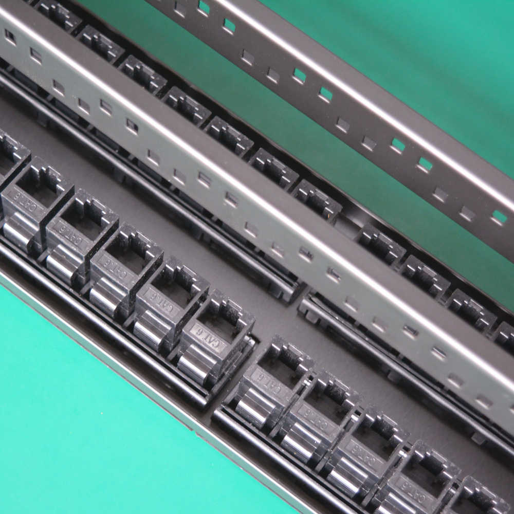19inch 2U Cabinet Rack Pass-through 48 Port CAT6 Patch Panel RJ45 Network Cable Adapter Keystone Jack Modular Distribution Frame