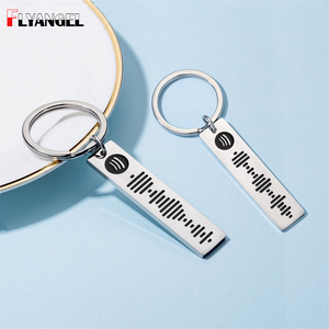 FLYANGEL Customized Song Code Favorite Song Keychain Keyring Music Teacher Boyfriend Girlfriend Gift Music Lover Key Holder