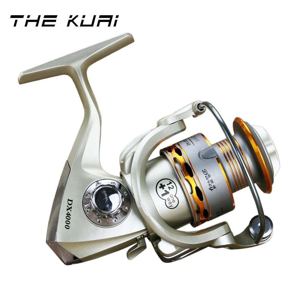 Fishing Spinning Reel 1000-6000 Rear Brake 5.2:1 10+1 Bb Post-Loading Wheel