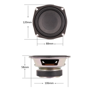 Image 5 - LEORY New Upgrade 5 inch 50W 8 ohm Magnetic Speakers High Sensitivity Super Bass Subwoofer Car Speaker Horn Accessories