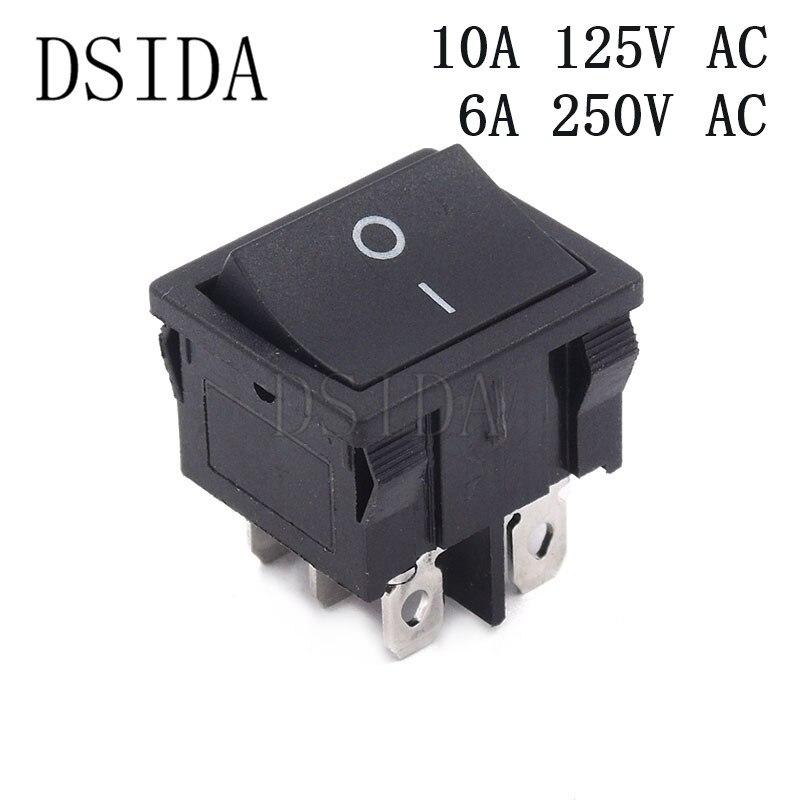 2A 4A 6A 10A --- ON OFF Switch --- 2 wire 2 pin DC SPST Rocker SWITCH AC