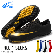 soccer shoes for men turf football boots child breathable cheap soccer cleats male football sneaker light mens soccer shoes Soccer Shoes Men Football Cleats Futsal Soccer Boots Ankle Football Shoes Kids Indoor Soccer Training Sneakers