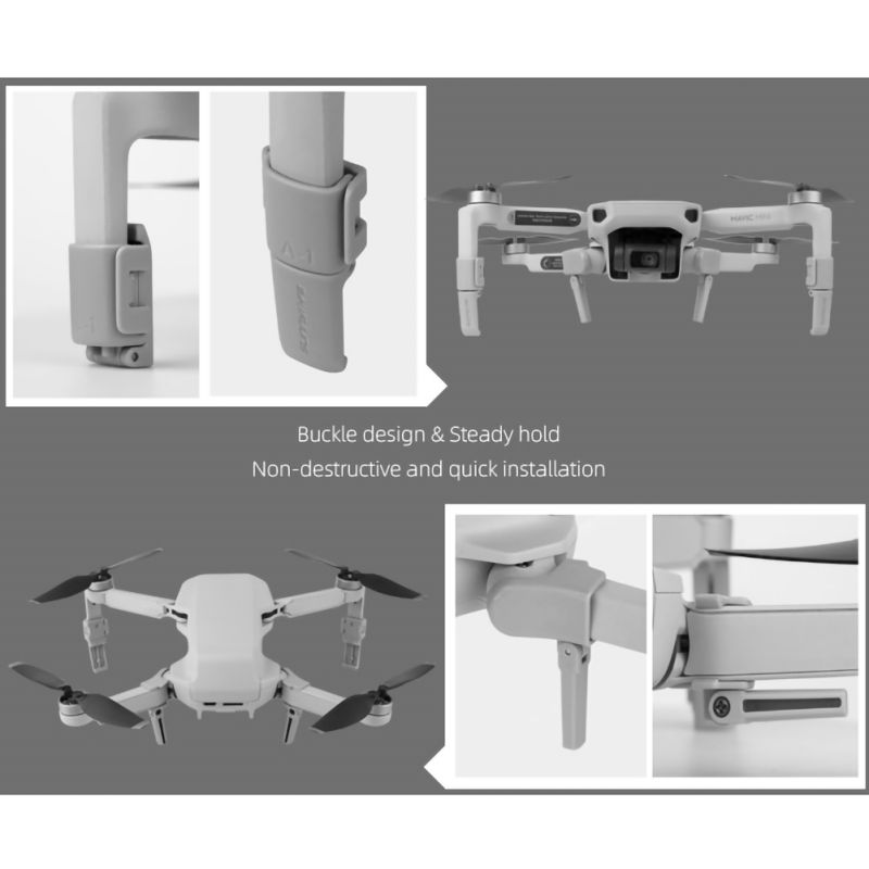 2020 For DJI Mavic Air Drone PGYTECH Folding Extended Landing Gear Heightened Legs Protector