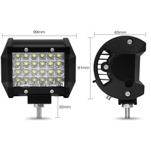 4 Inch Row 72W For Off-road Car Pickup Wagon Waterproof Working Light Spot light 3600LM Modified Top LED Bars