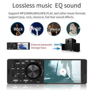 Image 3 - Bluetooth 4.0 Multimedia Autoradio FM Aux For Car Radio Rear Camera MP5 Stereo Audio 4.1 Inch HD Touch Screen MP3 Music Player