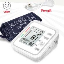 Digital Voice Upper Arm blood pressure monitor Pulse Gauge Meter BP Heart Beat Rate Sphygmomanometer  Double memory