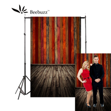 Beebuzz photo backdrop red wood panels alternate on the background professional studio and family use photography background