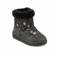 Girls Boots Shoes Spring Autumn Black PU Children's LeatherFashion Kids Warm Winter Rubber Waterproof Snow Rain Baby 92.511804.P