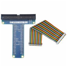 цена на GPIO T Type Expansion Module Board Adapter with 40 Pin GPIO Female to Female Rainbow Cable For Raspberry Pi3/ 2 Model B+
