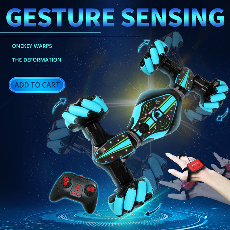 Gesture Sensing Stunt Remote Control RC Car Children's Light Music Twisting Car Deformation Climbing Off-road Vehicle Model