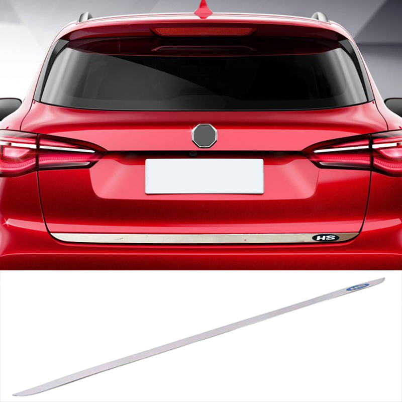 Lsrtw2017-Tira de acero inoxidable para puerta trasera de coche, embellecedores de puerta trasera, decoración para Mg Hs 2018 2019 2020 2021, accesorios, piezas de puerta trasera