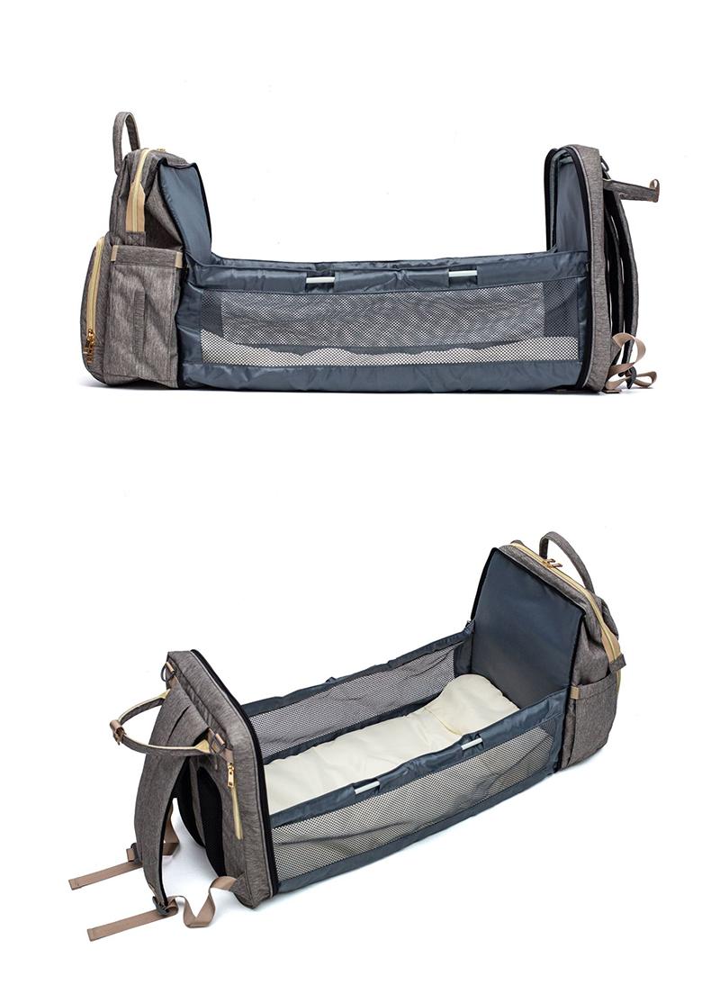 pour les voyages Lit de voyage portable et berceau Fonctionne comme sac /à couches et table /à langer Sac momie multifonctionnel Sacs /à dos pliables pour lit b/éb/é avec pare-soleil et moustiquaire
