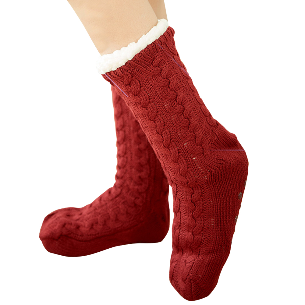 Ladies Thick Warm Cute Fluffy Fleece Cosy Ankle Thermal Lounge Bed Socks
