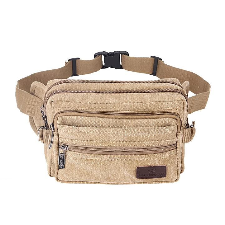 Casual Canvas Messenger Bags Waist Packs Purse Men Portable Vintage Men Waist Bags Travel Belt Wallets