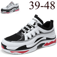 Ins Super Fire Men's Large Size Sneakers Men's Casual Student Running Shoes Youth Platform Shoes 39 48 Men Fashion Sneakers