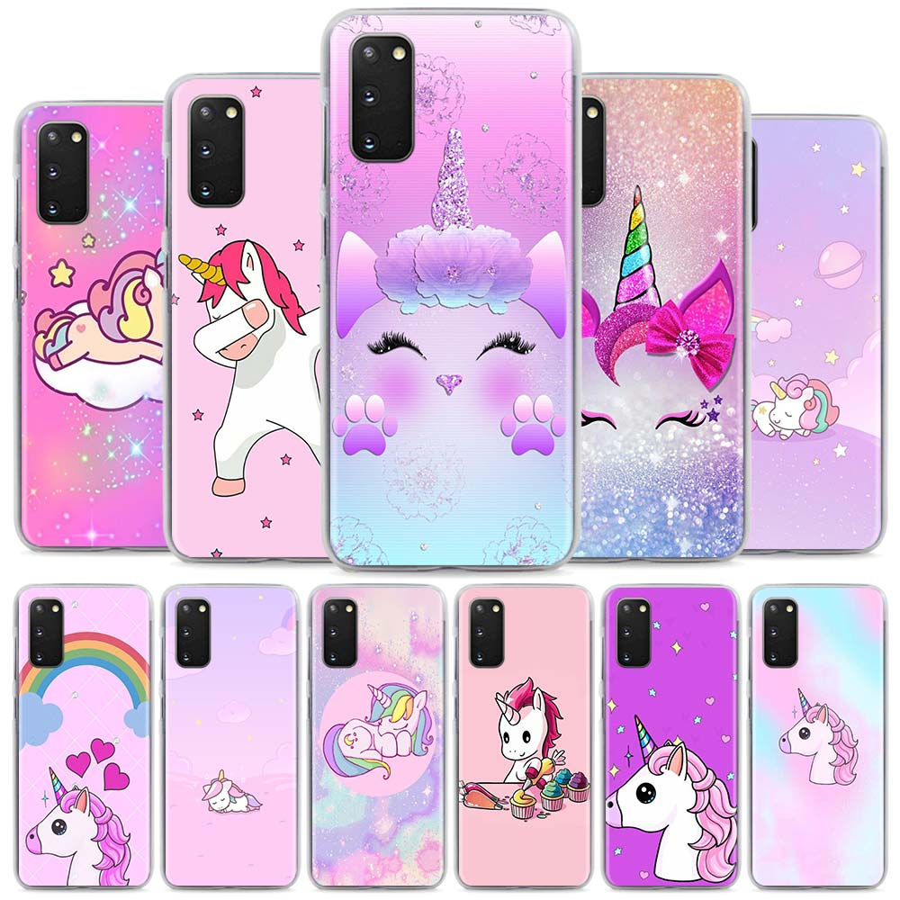 Unicorn Cute Hard Phone Case For Samsung Galaxy S21 20 Ultra S20 FE S8 S9 S10 Plus S10 Lite S10e 5G Cover Coque Fundas