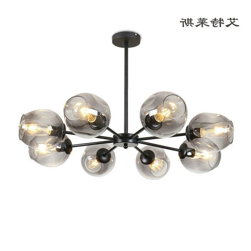 Loft Modern Pendant Light Silver Gold Glass Ball Hanging Lamp Hanglamp Kitchen Light Fixture Dining Living Room Luminaire