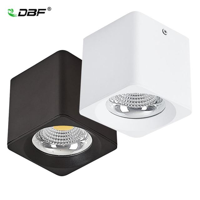 [DBF] גבוהה כוח צמודי Downlight 10W 20W 30W כיכר שחור/לבן LED תקרה ספוט אור 3000K/4000K/6000K AC110V 220V